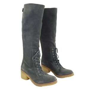 Belle Sigerson Morrison Tall Suede Lace-up Boot 11